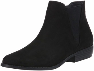 Rampage Women's Leesa Casual Pull on Double Gore Bootie Ankle Chelsea Boot