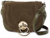 Diane von Furstenberg Love Power Leather Saddle Crossbody Bag