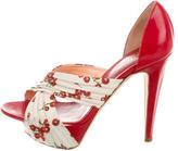 Sergio Rossi Printed Platform Sandals