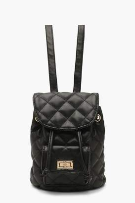 boohoo Mini Quilted Strap Rucksack