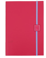 Undercover Recycled Leather Notebook Plain - Lipstick - A5
