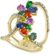 Effy Watercolors by Multi-Gemstone (3 ct. t.w.) and Diamond (3/8 ct. t.w.) Statement Ring in 14k Gold