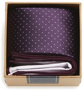 The Tie Bar Dot Silk Tie & Cotton Pocket Square Style Box