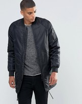 Solid Longline Padded Bomber
