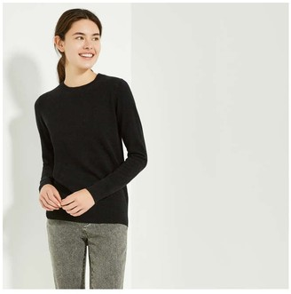 Joe Fresh Women's Cashmere Crew Neck Sweater, Dark Grey Mix (Size XS)