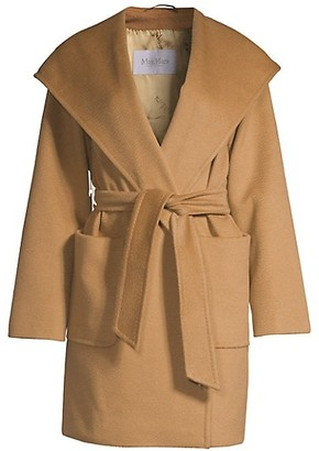 Max Mara Rialto Hooded Wool Wrap Jacket