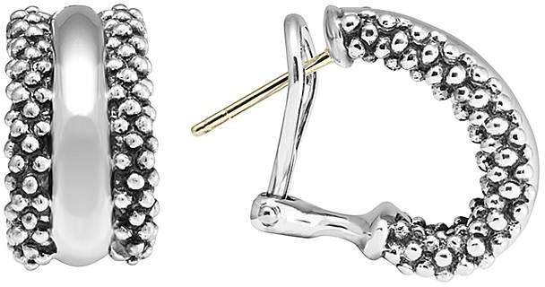 Lagos CaviarTM Hoop Earrings in Sterling Silver