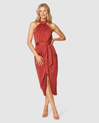 Pilgrim Women's Red Midi Dresses - Addy Midi Dress - Size One Size, 8 at The Iconic