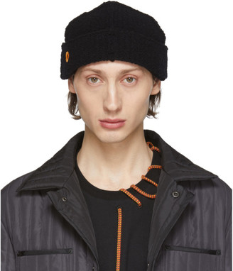 Craig Green SSENSE Exclusive Black Wool Boucle Beanie