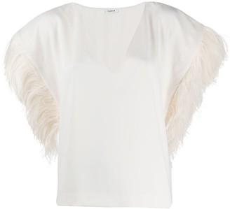 P.A.R.O.S.H. Feather Sleeve Blouse