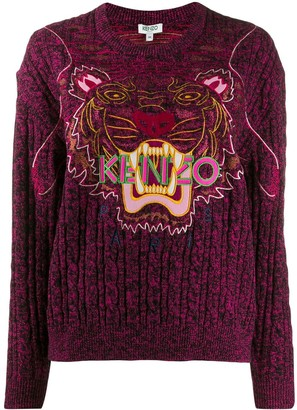 Kenzo Tiger Logo Embroidered Sweater
