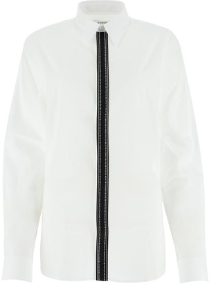 Givenchy Contrast Logo Band Trim Shirt