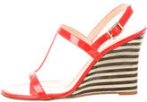 Kate Spade Patent Leather Wedge Sandals