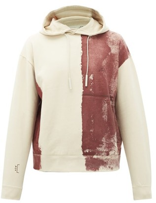 A-Cold-Wall* Block-painted Cotton Hooded Sweatshirt - Beige