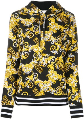 Versace Jeans Couture Baroque Logo Print Hoodie