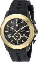 Swiss Legend Men's 10042-BB-01-GB Monte Carlo Chronograph Textured Dial Silicone Watch