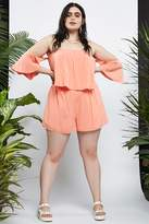 Forever 21 Plus Size Off-the-Shoulder Romper