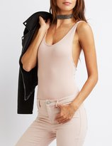 Charlotte Russe Strappy Scoop Neck Bodysuit