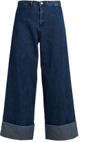 Sea Mid-rise wide-leg cropped jeans