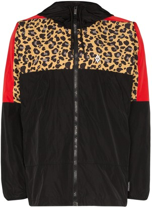 Marcelo Burlon County of Milan Leopard Block windbreaker