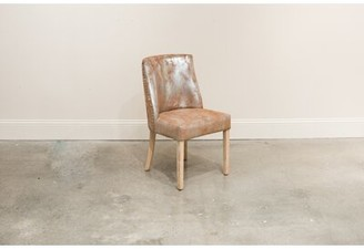 Gracie Oaks Spotts Genuine Leather Upholstered Dining Chair (Set of 2
