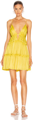 Jonathan Simkhai Isla Satin Dress in Limoncello | FWRD