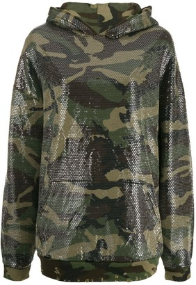 R 13 Camouflage Embroidered Hoodie