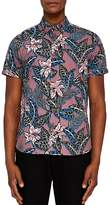 Ted Baker Clbtrop Tropical Print Regular Fit Button-Down Shirt
