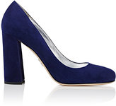 Prada Women's Suede Pumps-NAVY