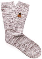 Folk Socks Burgundy Melange
