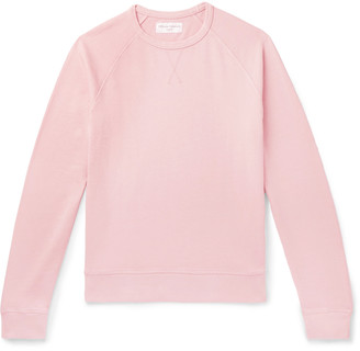 Officine Generale Garment-Dyed Cotton-Terry Sweatshirt - Men - Pink