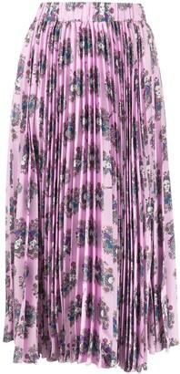 La DoubleJ Demeter Goddess pleated midi skirt