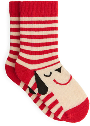 Arket Jacquard Monster Socks