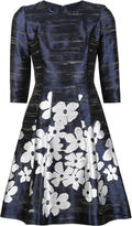 Carolina Herrera metallic floral print dress