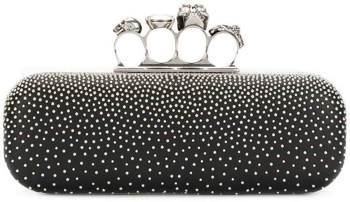 Alexander McQueen studded four-ring clutch bag