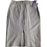 Christian Dior White Viscose Skirt