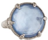 Judith Ripka Quartz & Mother of Pearl Doublet Cocktail Ring