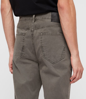 AllSaints Ridge Twill Tapered Jeans, Khaki