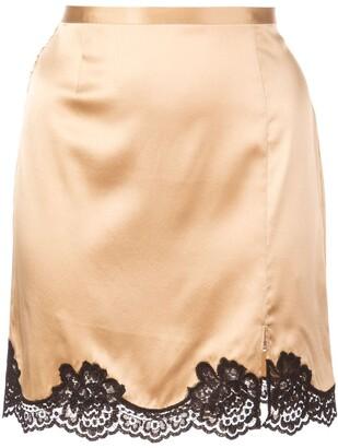 Fleur Du Mal James lace detail mini skirt