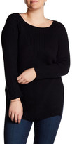 Vince Camuto Long Sleeve Ribbed Sweater (Plus Size)