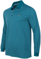Greg Norman For Tasso Elba Men's Long-Sleeve Dotted-Grid Polo, Only at Macy's