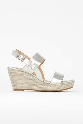 Wallis **Silver Low Heel Wedge