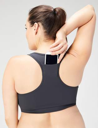Core Products Amazon Brand - Core 10 Women's Plus Size Longline Pocket Sports Bra