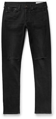 Rag & Bone Fit 1 Skinny-Fit Distressed Denim Jeans