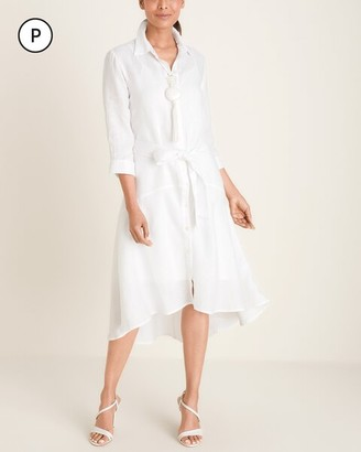 Chico's Petite High-Low Hem Linen Dress