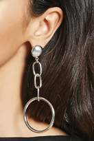 Forever 21 Key Ring Chain Drop Earrings