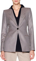 Giorgio Armani Mini-Houndstooth One-Button Jacket, Multi Check