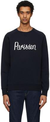 MAISON KITSUNÉ Navy Parisien Sweatshirt