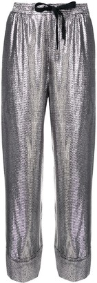 Roland Mouret metallic cropped trousers