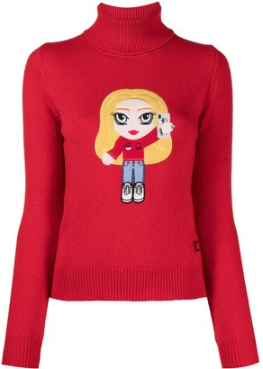 Chiara Ferragni Chiara-patch roll-neck jumper